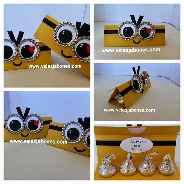 Caja para chocolates kisses de Minion   Aprender manualidades es facilisimo.com