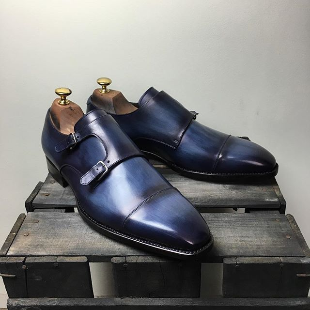 11776 Collin patina Denim. Get your free cedar wood SHOETREES with every purchase at:  www.andres-sendra.com #patinaconcept