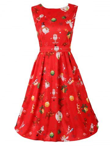 GET $50 NOW | Join RoseGal: Get YOUR $50 NOW!http://m.rosegal.com/print-dresses/belted-christmas-print-flare-dress-945289.html?seid=7249451rg945289