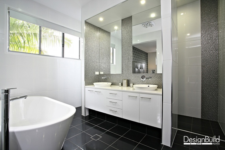 Luxury ensuite with mosaic feature tiling.