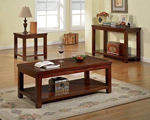 Furniture of America Torrence Transitional Sofa Table, Dark ...
