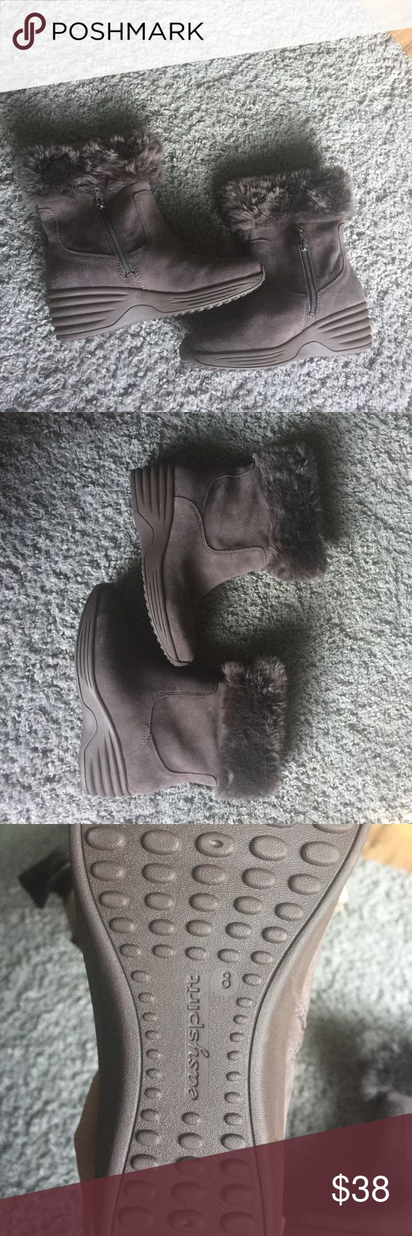 BRAND NEW easy spirit winter boots Never worn, brand new in box. Easy spirit boots- they were not cheap! Perfect condition, furry part around calf.  The inside is NOT fit. Extremely Comfortable boots perfect for shoveling snow or whatever! Easy Spirit Shoes Winter & Rain Boots
