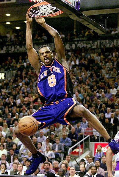 Latrelle Sprewell - Here as a Knick but he's been my favorite since he was a Warrior