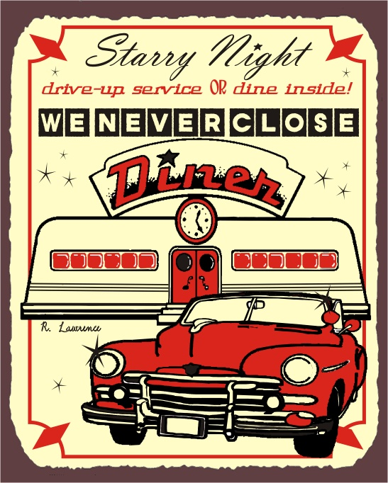 Vintage Diner Sign | DIY/CRAFTS | Pinterest