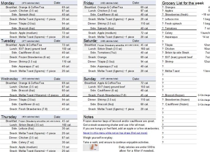menu list sample efficiencyexperts - sample shopping list