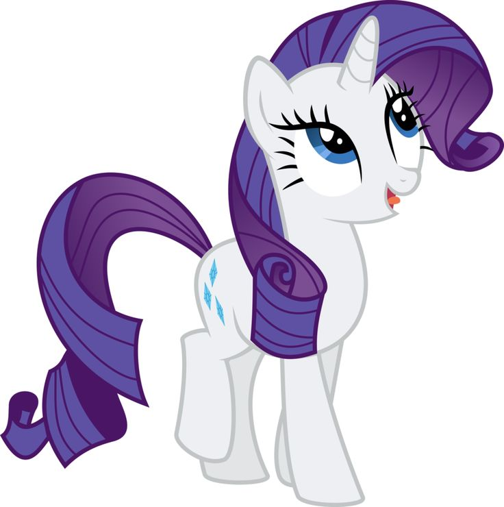My Little Pony vector - Rarity by Krusiu42 on deviantART