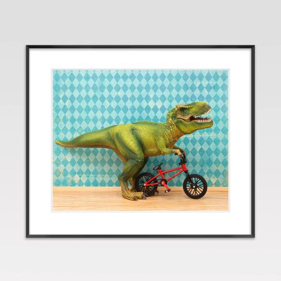 Cute dinosaur photo prints for a kids room. And they're on sale right now.