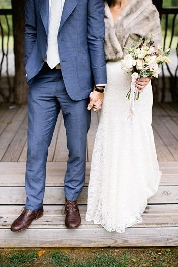 This groom nailed his attire for this mountain wedding. So handsome.