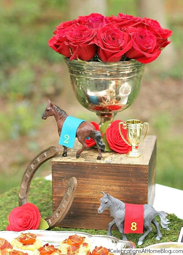 Kentucky Derby party ideas - flower centerpiece