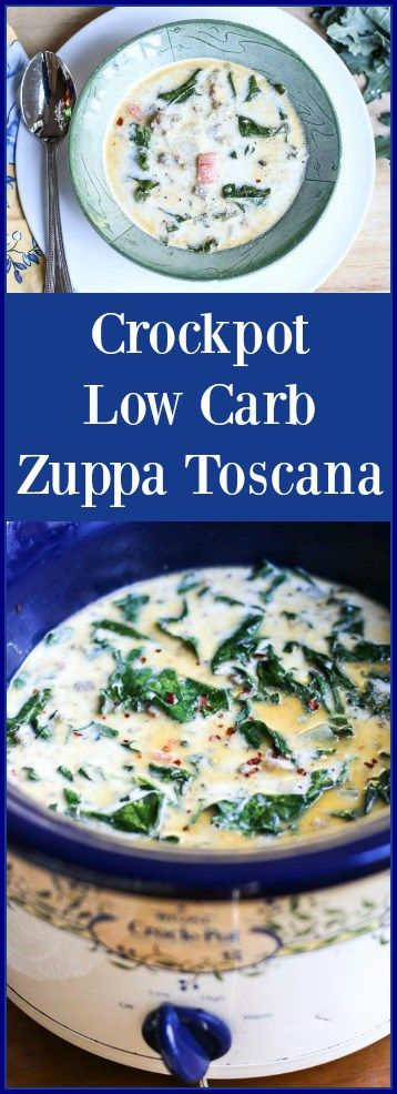 Everyone's favorite recipe at Olive Garden is the Zuppa Toscana. This is a healthy low carb crockpot version that is absolutely delicious!