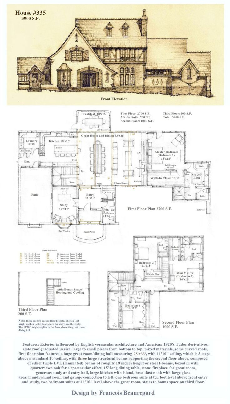 house 335 plan dont like the main floor layout but i do like the floor plan with less bathrooms and more open space