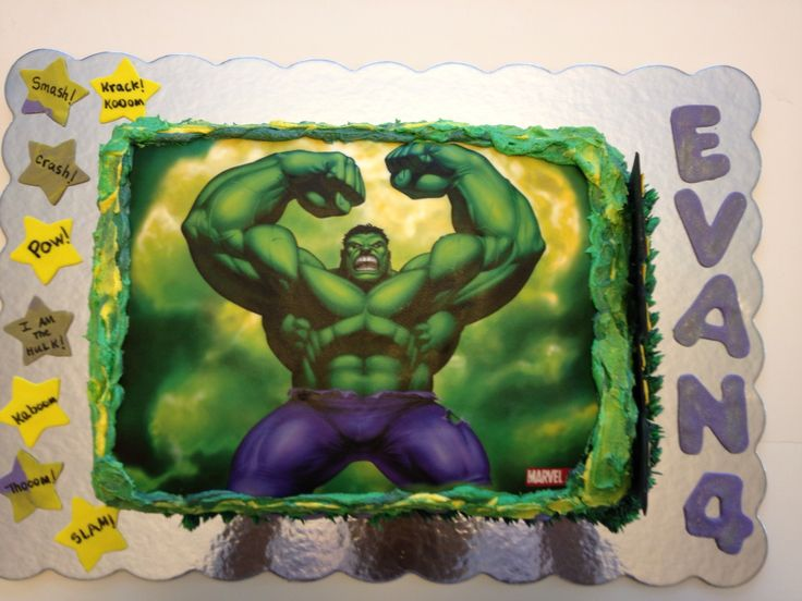 The Incredible Hulk Cake Ideas 30215 Third Birthday Hulk B