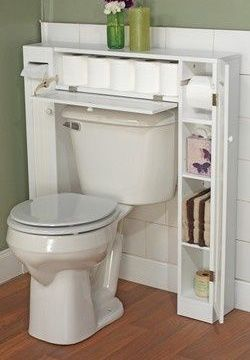 Buying Or Building A Shelving Unit That Can Slide In And Fit Around The Toilet Is