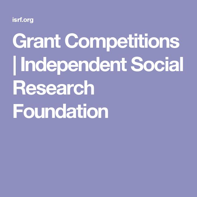 Grant Competitions  |   Independent Social Research Foundation
