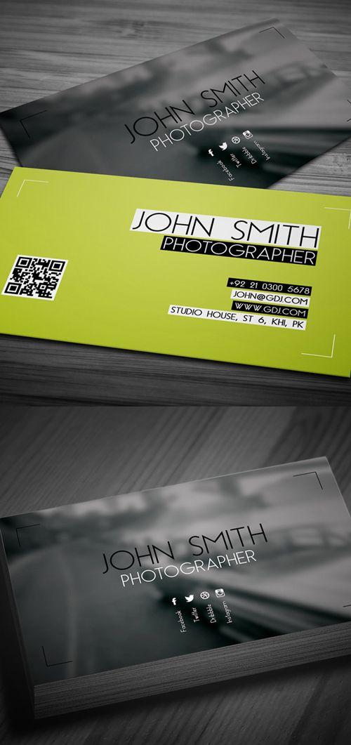 Modern Photography Business Card PSD Templates