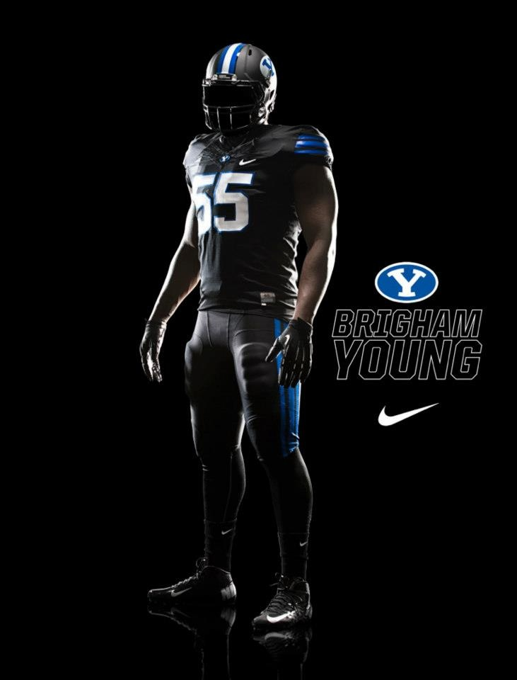 BYU's blackout unis are ridiculous.