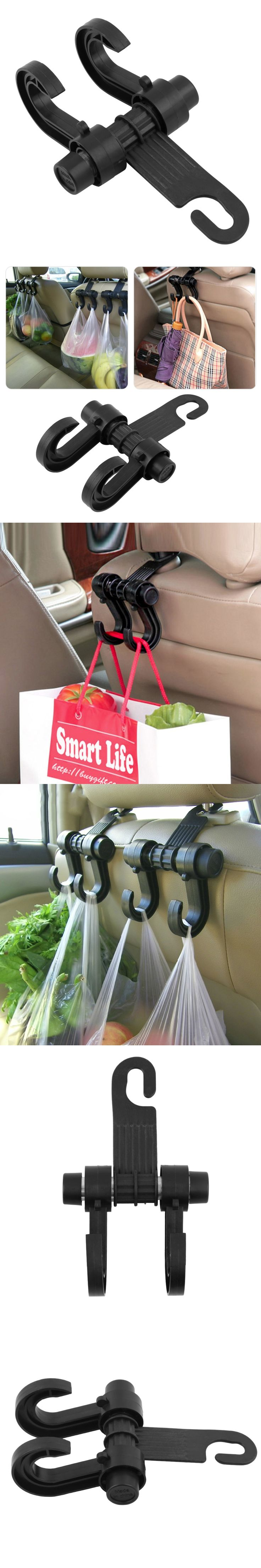 Portable Car Seat Back Storage Hook Sundries Hanger Bag Holder Universal Multifunction car hook Fastener & Clip