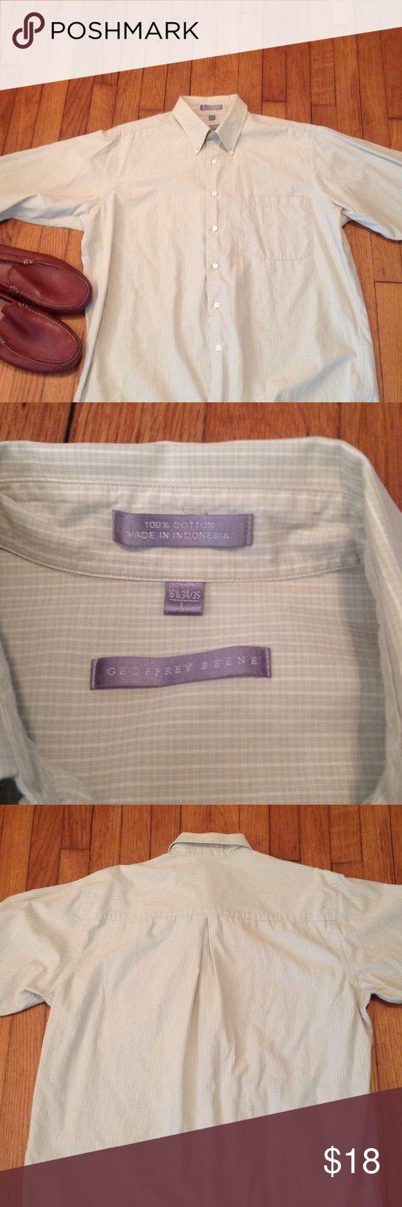 Very clean dress shirt🌟 100% cotton  bottom down clean (Like New) Geoffrey Beene Shirts Dress Shirts