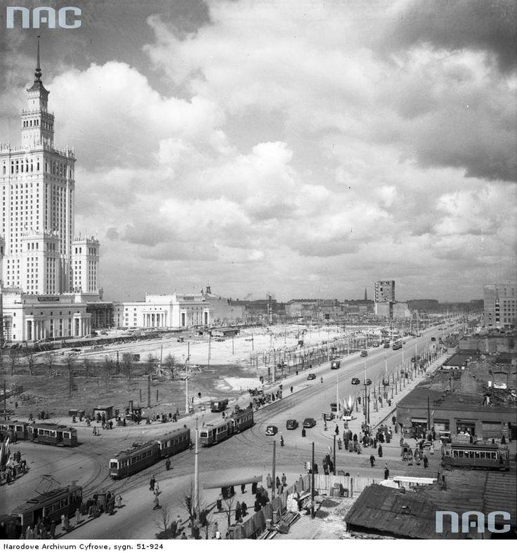 Ulica Marszałkowska w Warszawie, 1954 - 1955