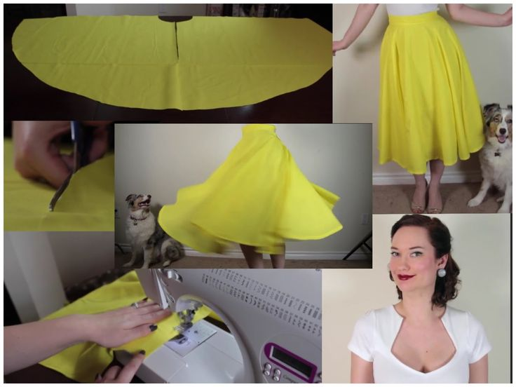 How to sew a circle skirt The Rachel Dixon retro tutorial DIY. No math needed, there's an app for that!