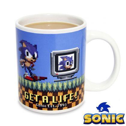 """Mug Sonic le Hérisson """"Get a Life"""" : Achat Cadeau Geek Sonic sur Rapid-Cadeau.com"""