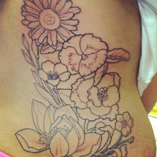 Tattoo Outlines Flowers Black And White: 124 Best Images About Tattoos On Pinterest