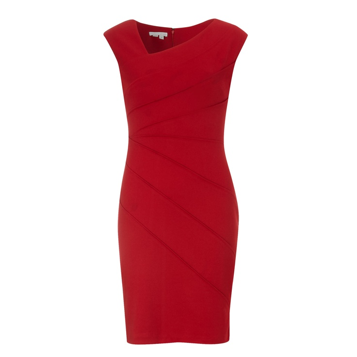 Red Paneled Dress for £24.99 #fabfind