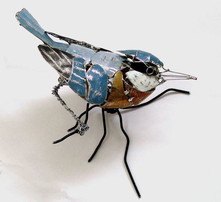 Recycled Birds by Barbara Franc