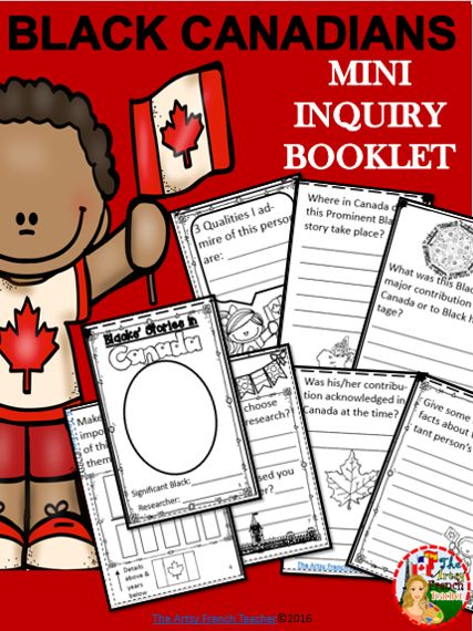 BLACK CANADIANS - Mini Inquiry Booklet is a 1 page ledger / 8 mini page booklet of templates for your students.  This is a 3 page EXCERPT from BLACK CANADIANS - Identity Wheel & Stories - TPT $