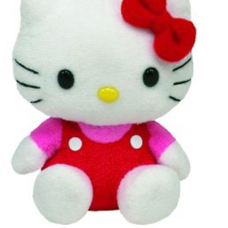 Ty Hello Kitty Key Clip in red overalls //Price: $ & FREE Shipping //     #collectibles World of Hello Kitty https://worldofhellokitty.com/product/ty-hello-kitty-key-clip-in-red-overalls/