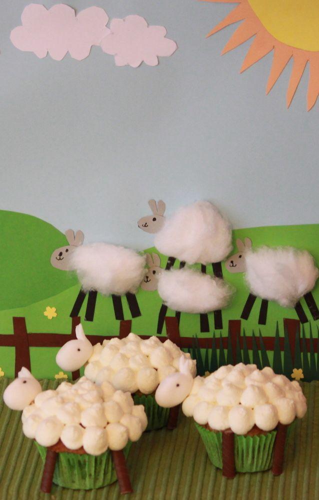 """""""Lasten lammaskuppikakut"""". Dr. Oetker Leivo ja koristele Facebook-sivulla järjestetyn Kaunein Cupcake 2014 -kilpailun voittaja. Tuomariston hurmasi kaunis kokonaisuus sekä hauska idea, jonka kokematonkin leipuri pystyy toteuttamaan."""