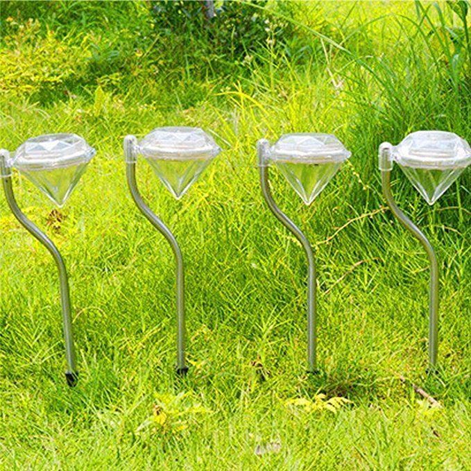 Solarlampe Fur Garten Mit 4er Set Farbwechsel Edelstahl Diamant Led Solarleuchten Garten Stecker Laternen F Solarleuchten Solarlampen Garten Rasenbeleuchtung