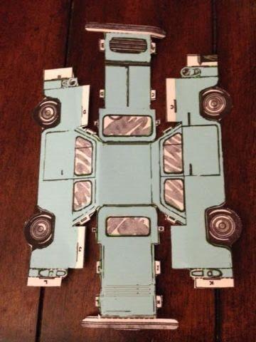 DIY Harry Potter Flying Car Paper Ornament