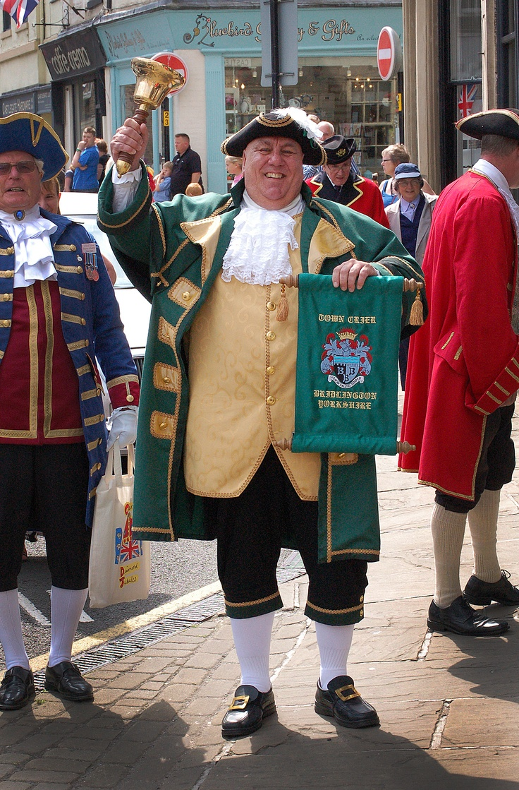 David Hinde Bridlington Town Crier...