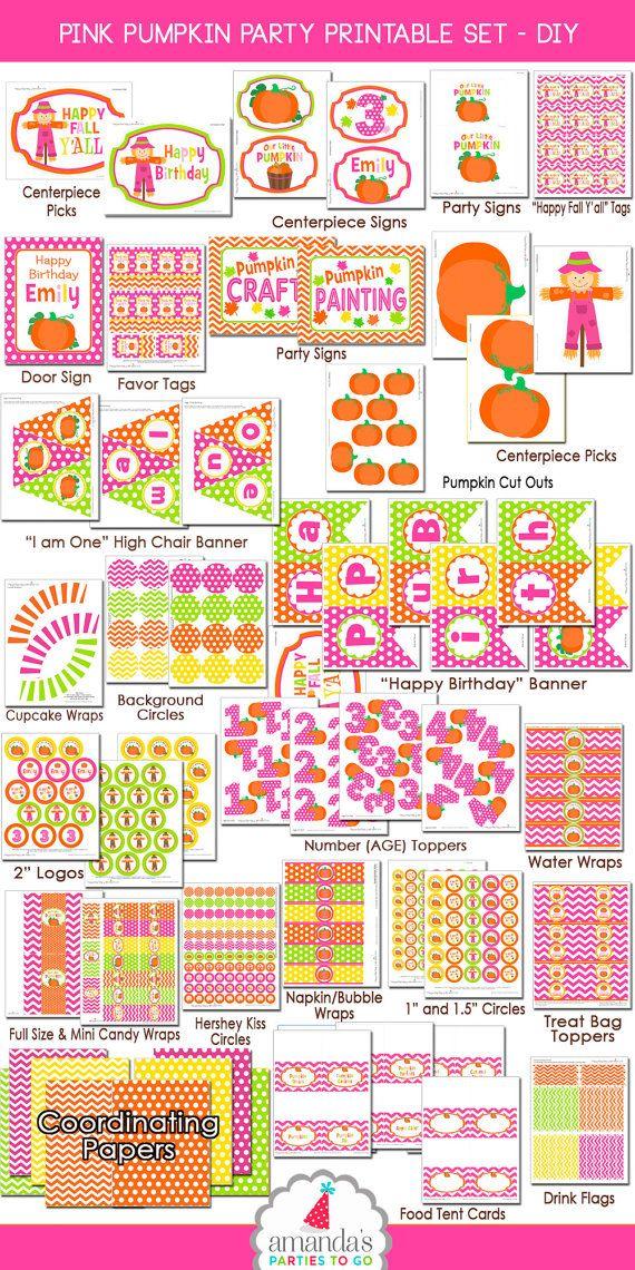 Pumpkin Patch Party Decorations Pumpkin by AmandasPartiesToGo