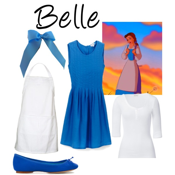 belle by ashley chic on polyvore - Blue Halloween Dress
