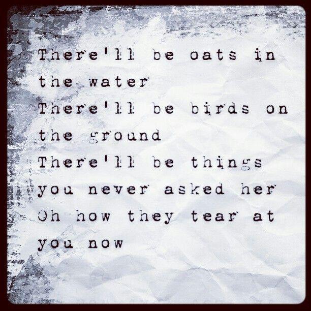 Ben Howard - Oats in the Water Lyrics - YouTube