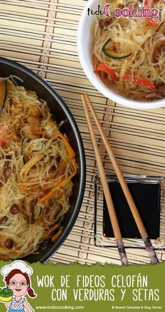 Wok de fideos celofán con verduras #todocooking #receta #wok #fideos