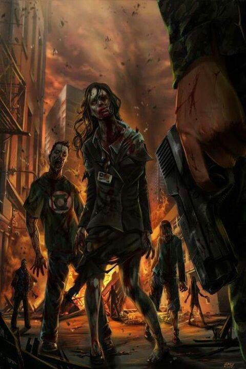 So I have a new Zombie Plan....I'm the guy in the Green Lantern shirt.