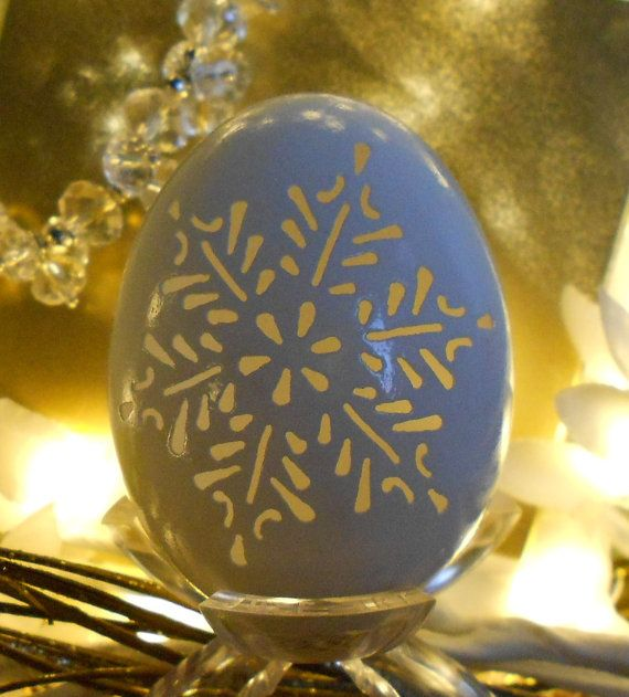 2012 Snowflake Christmas Ornament Carved Goose by CraftyCarvings, $32.95