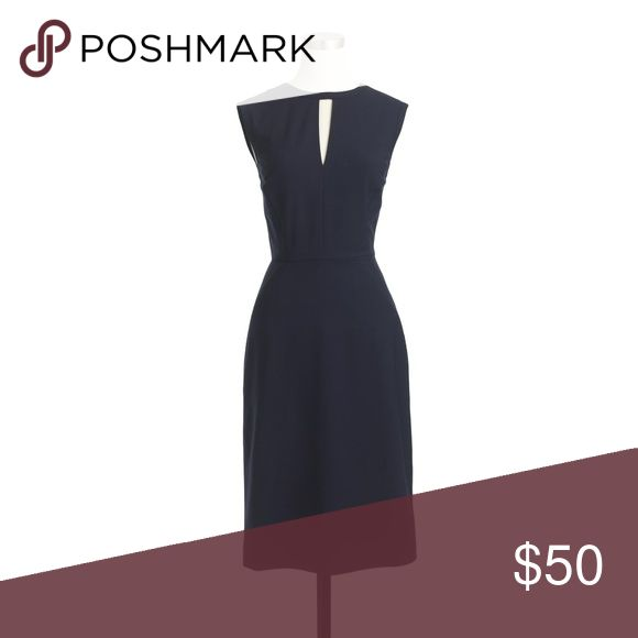 """J. Crew Keyhole Dress in Italian Stretch 6 Petite ▪️J. Crew ▪️This chic dress is qualified to help you handle whatever comes your way, interviews, meetings, coffee dates, you name it! Flattering and feminine (the grosgrain ribbon is perfectly waist-defining). ▪️Classic and Stylish Black in excellent preowned condition ▪️Measurements: laying flat Length approx. """", Armpit to armpit approx. """", waist is approx. """". ▪️Size 6P  Bundle and save! Please see all pics, read description and ask…"""