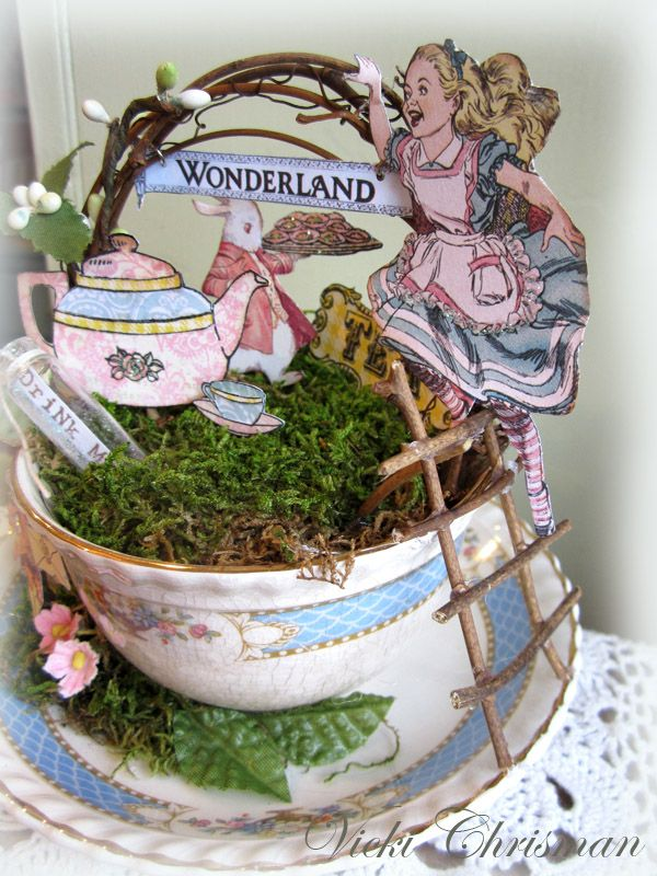 1000 images about altered teacups on pinterest tea cups Alice and wonderland art projects