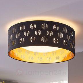 https://www.lampen24.nl/Zwart-gouden-LED-plafondlamp-Marsel-uit-textiel.html