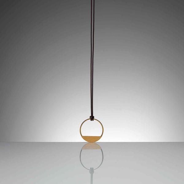 NUT Contemporary Jewellery Pendent Created by Arq. Camilo Rebelo for Dos Santos now available at by-PT.com #jewellery #Goldjewellery #pendent #NUT #ContemporaryJewellery