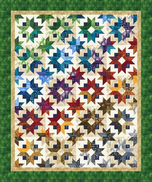 Daybreak Designer Pattern Designed by Georgette Dell'Orco (Cozy Quilt Designs) for Robert Kaufman Fabric Company