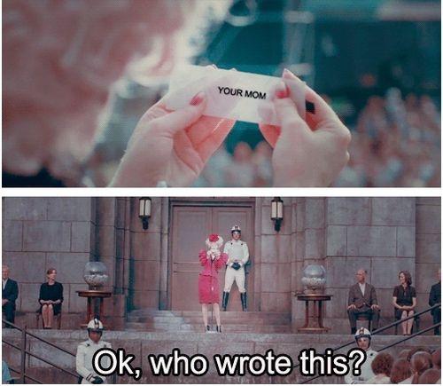 hahaha: Laughing, Favors, The Hunger Games, Effie Trinket, Hungergam, Funny Stuff, Mom Jokes, Hunger Games Humor, Effietrinket