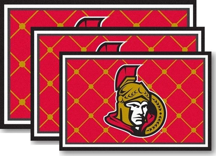 [[start tab]] Description Show your team pride and customize any room in your home or tailgating party with a Ottawa Senators Area Rug. Available in three sizes and custom manufactured in the USA usin