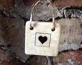 Hanging Ceramic Heart Tile