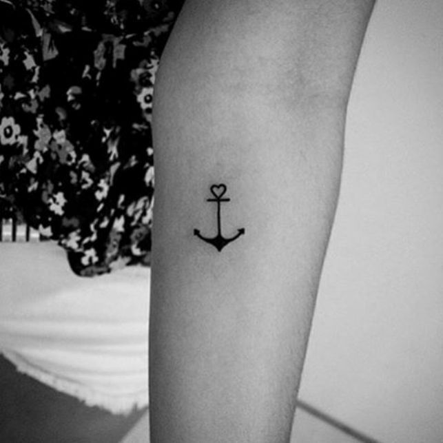 cute anchor tattoos for girls