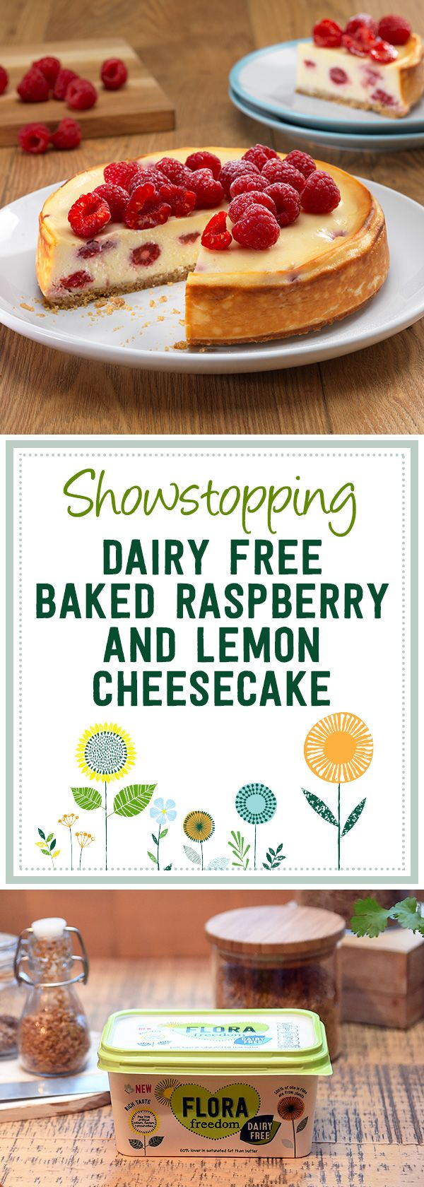 This fun little recipe for Baked Raspberry and Lemon Dairy Free Cheesecake perfectly blends citrus and sweet flavours to create a treat everyone will love – because who doesn't love cheesecake?
